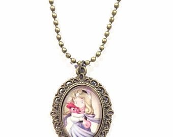Cute princess cameo necklace