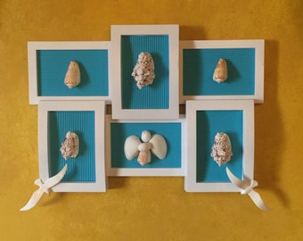 Sea shell picture frame/home decor