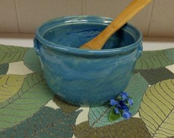 Blue Artisan  Handmade Stoneware Ceramic Casserole