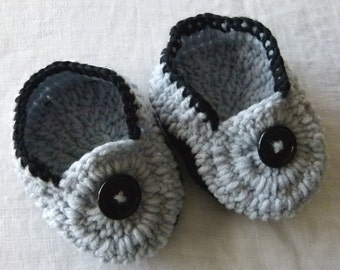 Childrens Slippers, Cushy Double Soles Crocheted, Baby/Toddler to 10 Years Soft Shoes