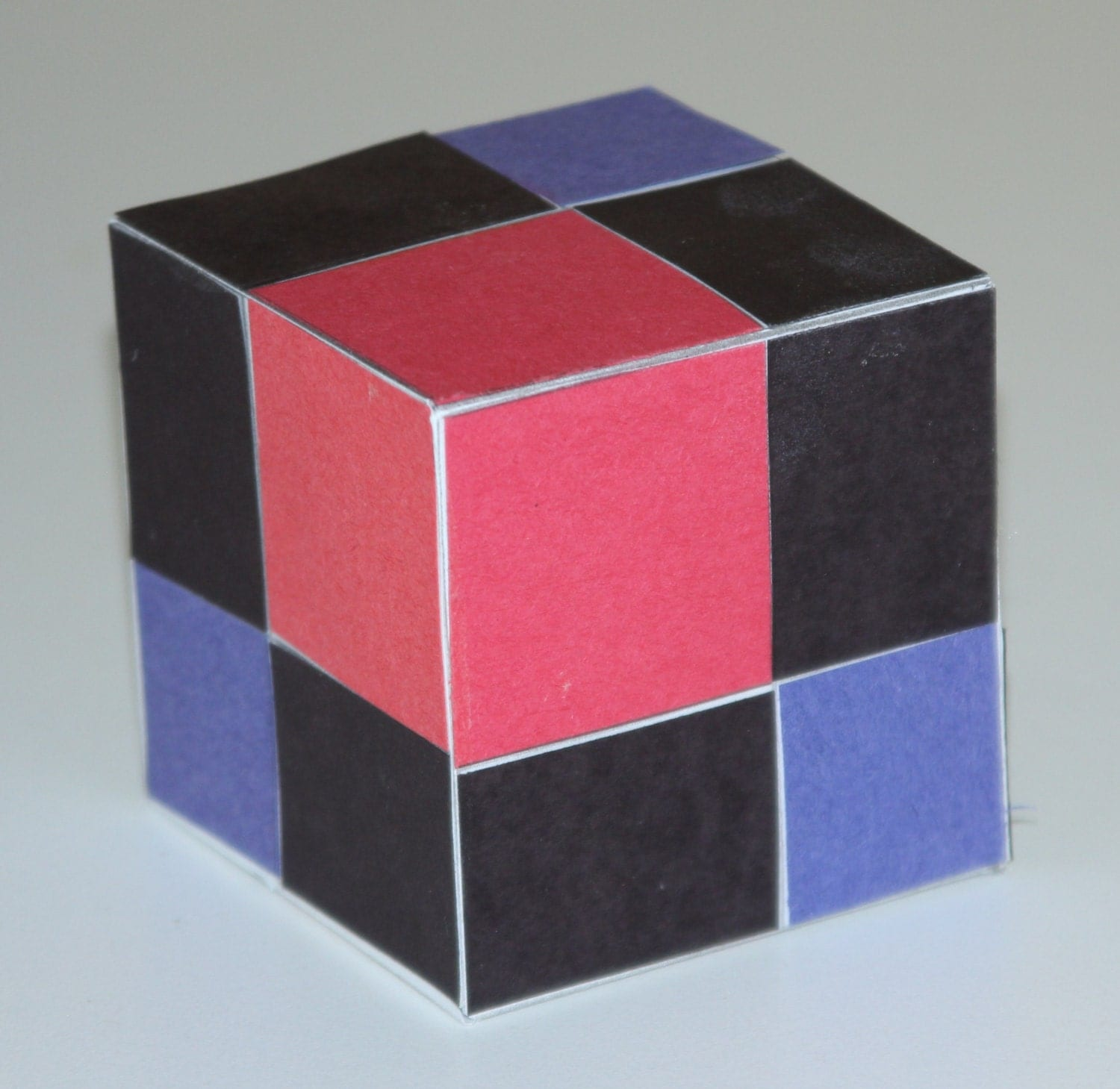 Binomial paper cube montessori extension from for Extension cube