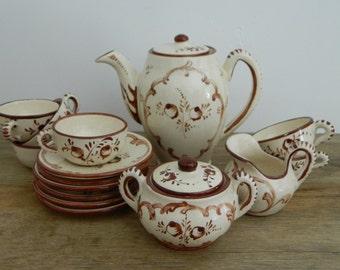 Vintage Child's Italian Pottery Tea Set. Demi Tass.