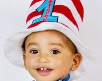 Cat in the Hat birthday hat