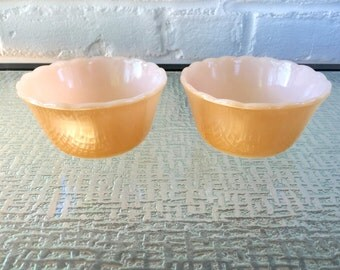 Fire King Copper Tint (Lustre) Custard Cups By Anchor Hocking