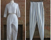 NY Fashion Week Sale 1950s crop top and cigarette pant set • size extra small • Havana Nights