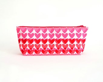 Pencil Case - Hearts
