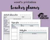 Teacher Planner; Teaching Planner, Teacher Organization, Teacher Printable, Teacher Lesson Planner, Lesson Plan, Lesson Plan Book