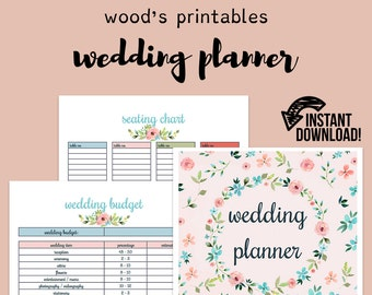 Wedding Planner Printable Wedding Binder Printables Wedding