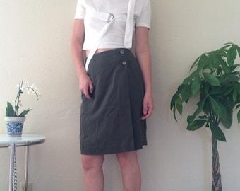 Army Green Wrap Skirt