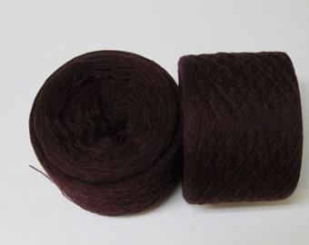 MAROON 100%  Merino Wool 1990 yards recycled yarn