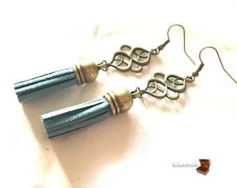 earrings tassel blue