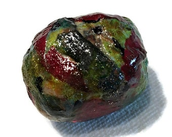Large Faux Glass Paper Focal Bead