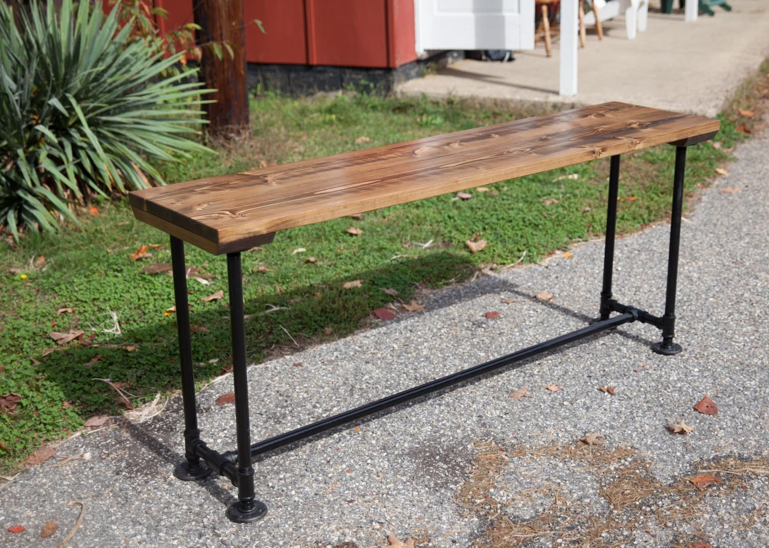 Industrial Sofa Table Entryway Table With Industrial Base