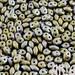 NEBULA WASABI MATTE: SuperDuo Two-Hole Czech Glass Seed Beads, 2.5x5mm (10 grams)