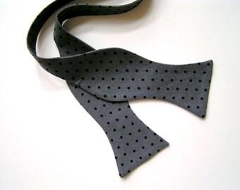 Grey bow tie for men,mens ties,mens bow ties,gray tie