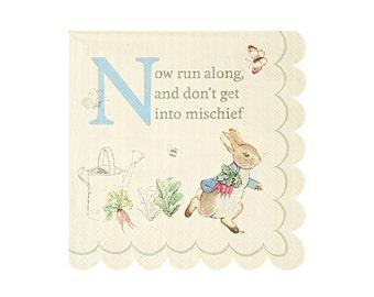 "Peter Rabbit SMALL Paper Napkins (Set of 20) - 5x5"" - Meri Meri Beatrix Potter Party Napkins (Licensed)"