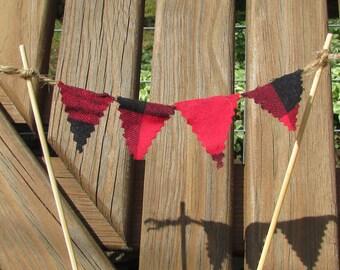 Lumberjack Cake Bunting, Lumberjack Cake Banner, Lumberjack Cake Topper, Lumberjack Birthday, Lumberjack Party, Lumberjack Decor, Lumberjack