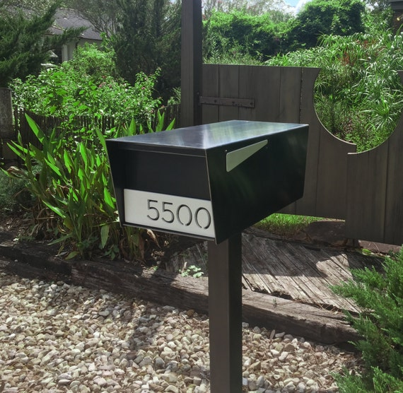 Goodwood Post Mount Mailbox Hot Rolled Steel