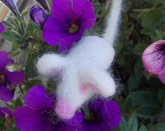 Catnip Mouse, Needle Felted Catnip Mouse, White Mouse Cat Toy, Wool Cat Toy, Felt Catnip Toy, Toy Mouse For Cats, Felted Cat Toy