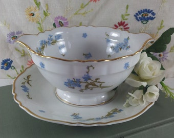 Haviland Limoges Sauce Boat/Gravy French Montmery Pattern Forget-me-nots