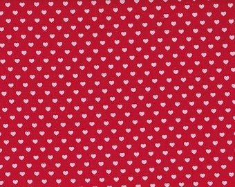 Cotton red and white heart 10mm