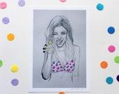 STAY FIERCE / Signed print by Niki Pilkington