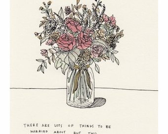 This Bouquet of Flowers // Art Print