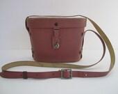 Vintage Salmon Pink Binocular Case - Alternate Purse Idea - Prop - Stage - Steampunk Style