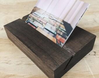 Handmade Walnut Business Card Holder
