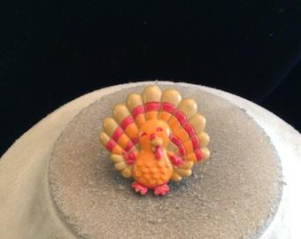 Vintage Chunky Thanksgiving Turkey Ring Sz 6