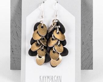 Punch earrings oval
