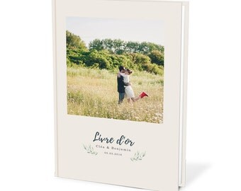 Bespoke wedding guest book with your Picture