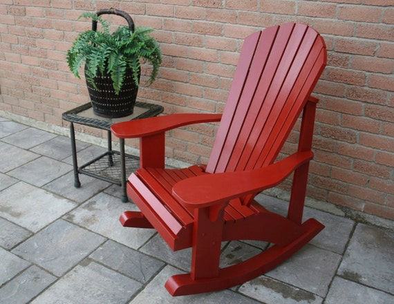 adirondack rocking chair retrofit kit plans for the grandpa chair