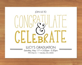 Customizable Graduation Party Invitations