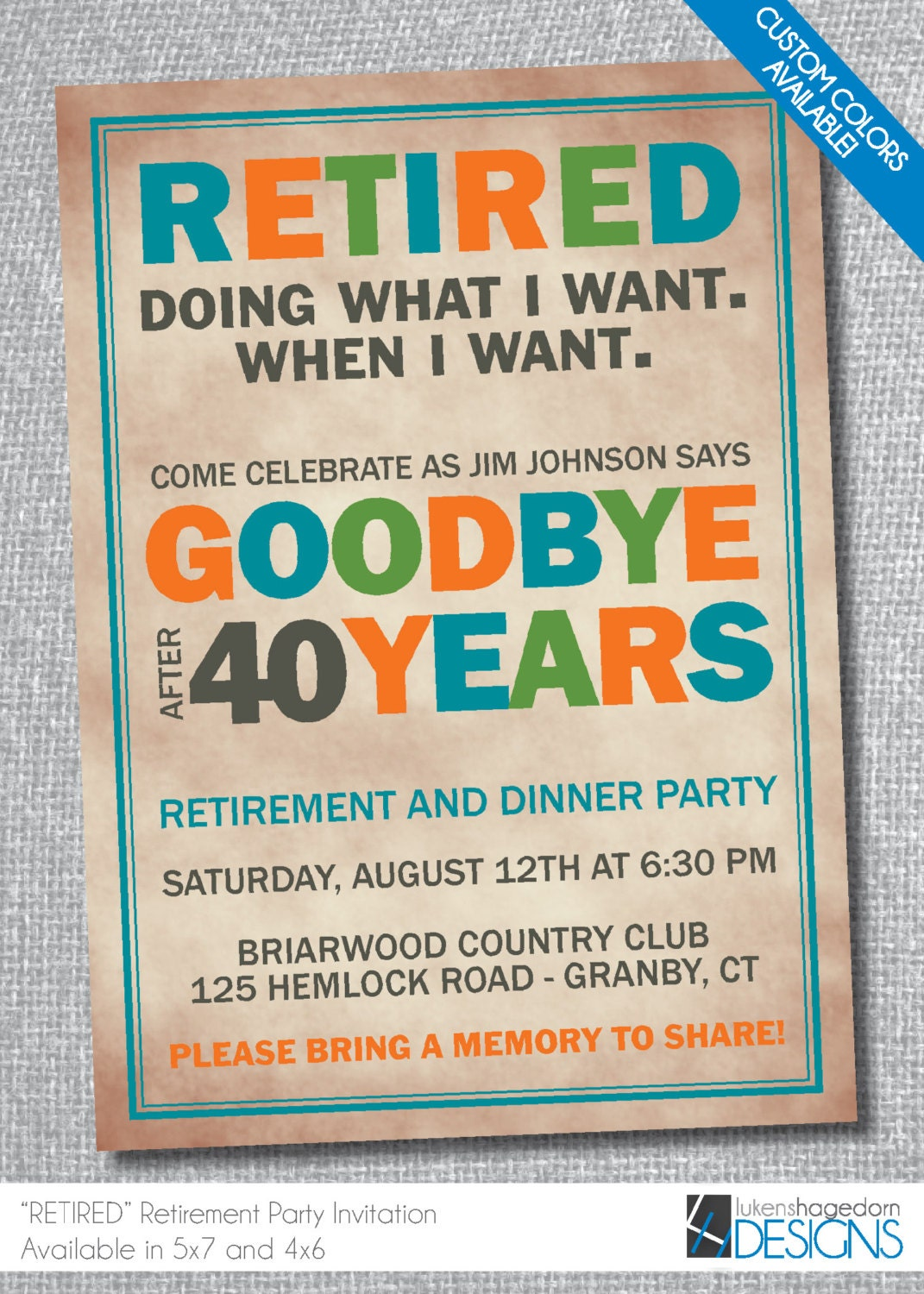 It's just a picture of Comprehensive Free Printable Retirement Invitations