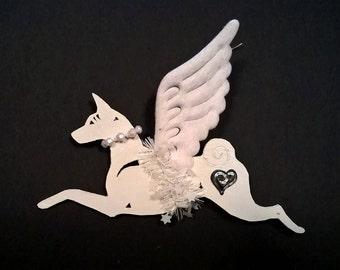 UniQ Basenji ornament angel !