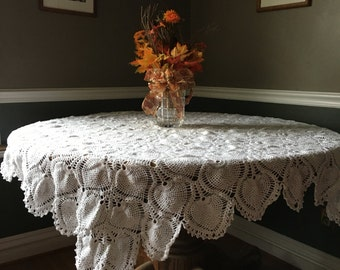 Pineapple Tablecloth Crochet