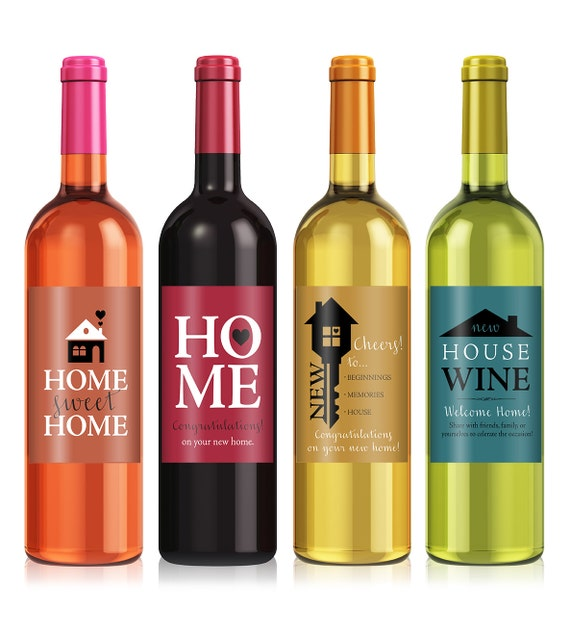 Housewarming gift new home housewarming personalized for Best wine for housewarming gift