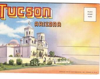 Tucson Arizona Vintage Postcard Folder (unused)