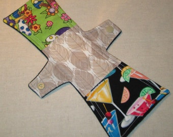 Funky Patchwork 10 in. Moderate Cloth Pad