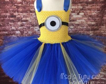 Minion tutu, Minion tutu dress, Minion dress, Minion costume, Minion dress up, Minion birthday, Minion party, Minion birthday party