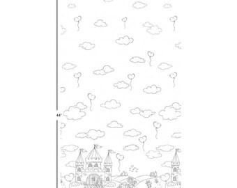 1/2 Metre Color Me - A Royal Life - Michael Miller Fabric - - 100% Cotton