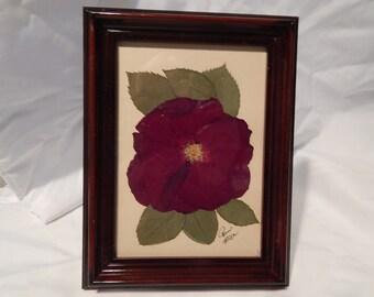 """7""""  X 6"""" Burgandy Framed Rose"""