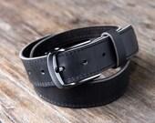 Leather Belt w/ninja HIDDEN Pocket, FREE Personalization, Belts for Men, Handmade Leather Belt, Man Belt [Listing #091]