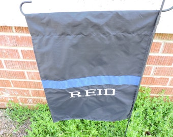 Personalized Police Officer Garden Flag