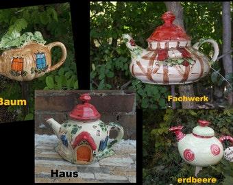 house -Teapot as a decoration for the garden