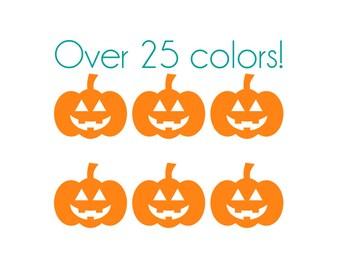 Halloween Pumpkin Nail Decals - Vinyl, Custom Color Choice