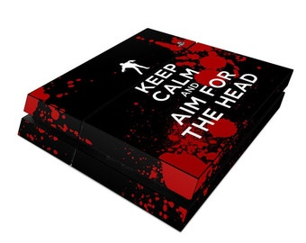 Sony PS4 Console Skin Kit - Keep Calm - Zombie - Sticker Decal Wrap