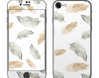 Feathers by Shell Rummel - iPhone 7/7 Plus Skin - Sticker Decal