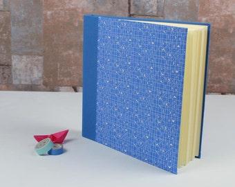 Blue baby photo album, festive photo album, customizable, substance-related photo album, baptism gift, photo album blue white chicken pattern